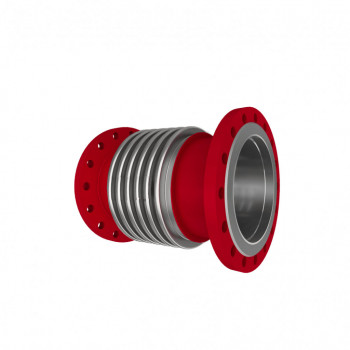 Компенсатор сильфонный осевой фланцевый КСО Ф  ДУ125 с давлением 16 бар (Арт. EK-125-16-56-F-F)