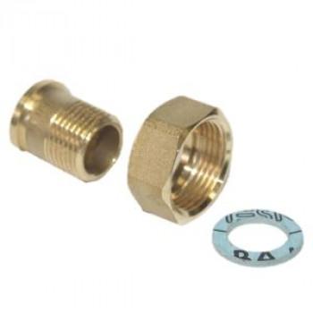 Разъемное соединение с накидной гайкой для клапанов с наружной резьбой, латунь, Danfoss 003Z0279