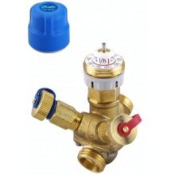 Балансировочный клапан Danfoss AB-QM Ду15 c измерительными ниппелями 003Z1212