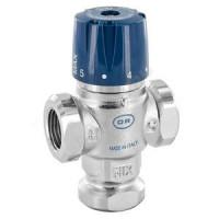 Клапан смесительный термостатический латунь 518 Ду 15 Ру10 ВР Kvs=1.3 OR0518.315