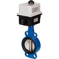 Дисковый поворотный затвор межфланцевый VFY-WA с электроприводом, Danfoss, Ду100 065B8443