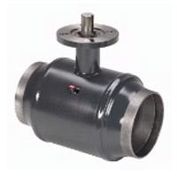 Шаровой стальной кран JiP Premium WW сварка/сварка с фланцем под электропривод, без редуктора, стандартный проход, Danfoss, Ду150, 25 бар 065N0152