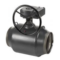 Шаровой стальной кран JIP/G-WW Premium сварка/сварка с редукторным приводом, стандартный проход, Danfoss, Ду200, 25 бар 065N0156