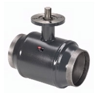 Шаровой стальной кран JiP Premium WW сварка/сварка с фланцем под электропривод, без редуктора, стандартный проход, Danfoss, Ду300, 25 бар 065N0167