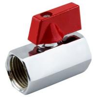 Кран шаровой латунь хром мини 1030 Ду 15 Ру10 ВР полнопроходной флажок Aquasfera1030-01