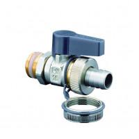 Кран шаровой, Optiflex KFE, DN-15, 1/2, Н, ручка-с ограничителем, никелированный 1033352