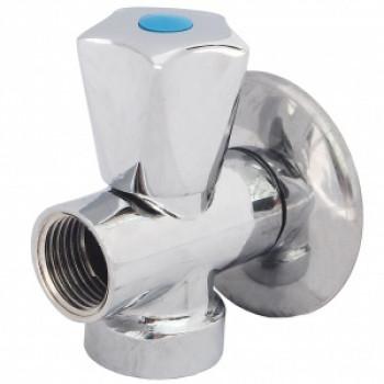 Клапан седловой латунный бытовой хром 3-ходовой 1045 G1/2х3/4х1/2 1/2х3/4х1/2 Ру10 НР/НР/ВР бабочка Aquasfera1045-01