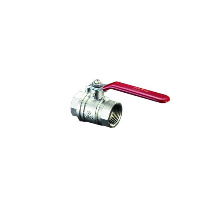 Кран шаровой, Optibal, DN-8, 1/4, ВВ, PN, бар-16, ручка-рычаг из оцинкованной стали, никелированный 1076002