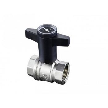Кран шаровой Optibal Ду20, 3/4, с термометром 1078006