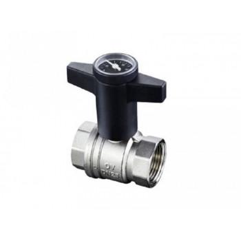 Кран шаровой Optibal Ду25, 1, с термометром 1078008