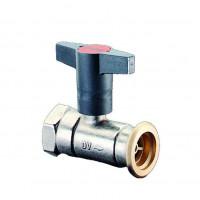Кран шаровой, Optibal P, для обвязки насоса, DN-25, 1, 1 1/2, ВНГ, PN, бар-10, никелированный, без обратного клапана 1078371