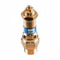 Клапан предохранительный пружинный латунь 1810 Ду15 НР G1/2 Рн=0.5...16бар для газообразных сред 220С OR1810.015