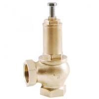 Клапан предохранительный пружинный латунь 1831 Ду40х40 ВР/ВР G1 1/2хG1 1/2 Рн=0.5...16бар 180С OR1831.042