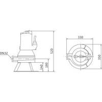 Погружной насос с режущим механизмом Wilo-Drain MTC 2081264