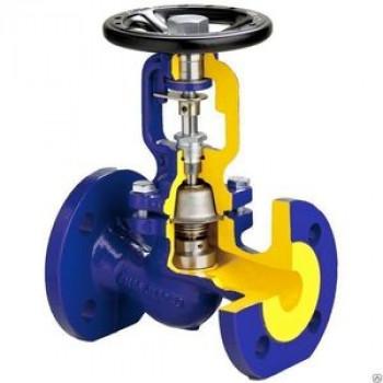 Клапан запорный сталь 234F Ду 125 Ру40 Тмакс=400 оС фл сильфонный Zetkama234F125E01