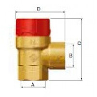 Предохранительный клапан Flopress 1/2 x 1/2, 2,5 bar (ст.арт. FL 27006) 27006