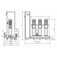 Установка повышения давления SiBoost Smart FC 3 HELIX V 1604 Wilo2787664