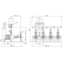 Установка повышения давления COR-4 MVIS 209/CC-EB-R Wilo2789431
