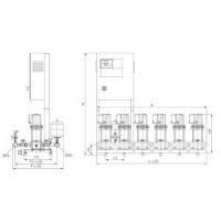Установка повышения давления COR-4 MVI 7006/2/SKw-EB-PN25-R Wilo2799899