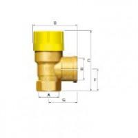 Предохранительный клапан Prescor Solar 1/2 x 3/4-6bar (ст.арт. FL 28311) 28311