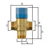 Термостатический смесительный клапан Flamcomix 35-70 FS DN20 (ст.арт. FL 28774) 28774