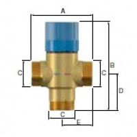 Термостатический смесительный клапан Flamcomix 35-70 FS DN25 (ст.арт. FL 28775) 28775