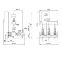 Установка повышения давления COR-3 MHI 402/SKw-EB-R Wilo2897322