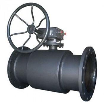 Кран шаровой сталь 11с67п Ду 150 Ру16 фл с редуктором Titan2ЦФ.00.3.016.150