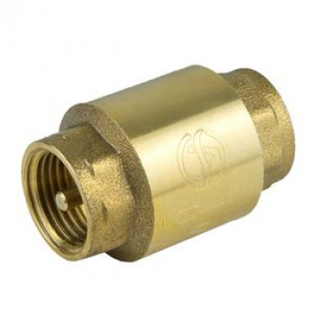 Клапан обратный латунь осевой 3001 Ду 15 Ру16 Тмакс=100 оС ВР G1/2 диск нейлон шток пластик Aquasfera3001-01