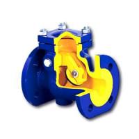 Клапан обратный чугун поворотный 302A Ду 80 Ру16 Тмакс=300 оС фл заслонка нерж Zetkama302A080C01