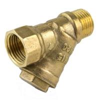 Фильтр сетчатый Y-образный латунь Ду 25 Ру20 G1 ВР/НР 4002 с отверстием под пломб Aquasfera4002-03