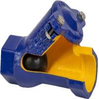 Клапан обратный чугун шаровой 401D Ду 80 Ру16 Тмакс=70 оС ВР G3 шар сталь Zetkama401D080C55