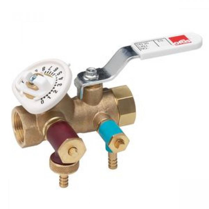 Балансировочный клапан с дренажем, Oras, 10 бар 410015