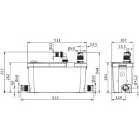 Установка канализационная HiDrainlift 3-37 Wilo4191680