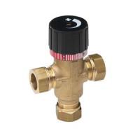 Клапан смесительный термостатический, ограничивающий, Oras, Ду15, 10 бар 421015