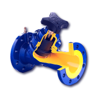 Клапан балансировочный Zetkama 447A Ду80, Ру16 447A-080-C-72