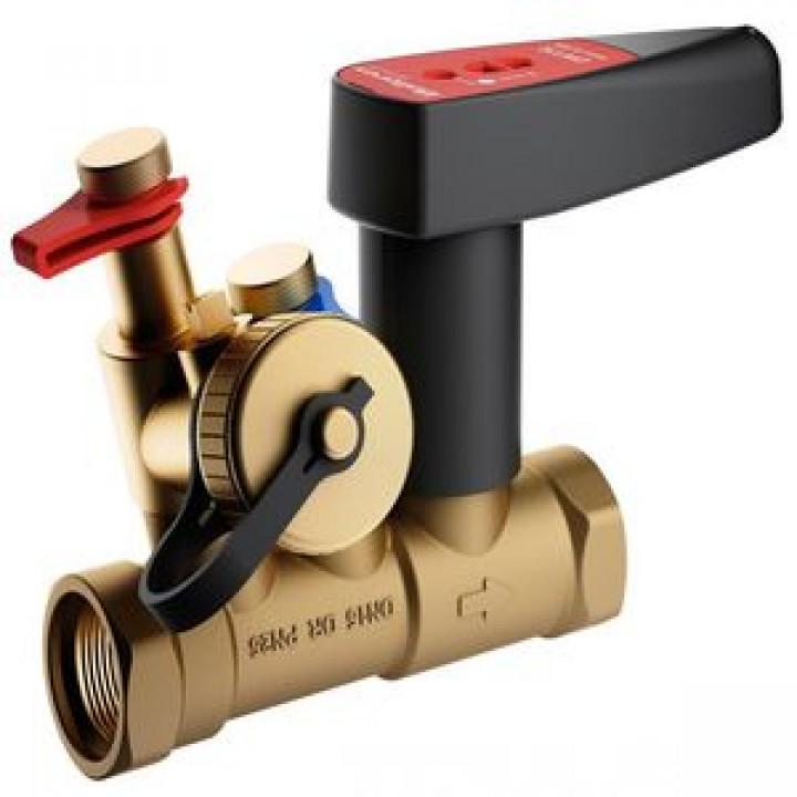 Балансировочный клапан р/р Ballorex Venturi FODRV с дренажём, Broen, Ду25S, 25 бар 4555000S-001003