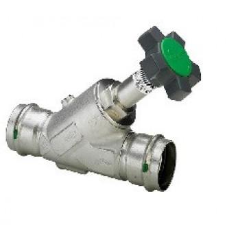 Вентиль-KRV-Easytop Inox (полнопрох), с обрат.клап, с пресс-соед-ями, с SC-Contur, DN 20 (22) 468484