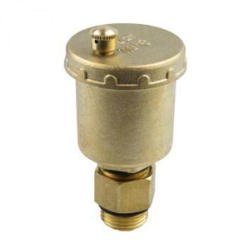 Воздухоотводчик автоматический латунь 5001 Ду 15 Ру10 G1/2 НР авт с отсеч/клап Aquasfera5001-01