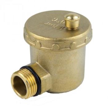 Воздухоотводчик автоматический латунь 5004 Ду 15 Ру10 G1/2 НР авт угл Aquasfera5004-01
