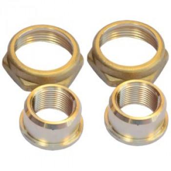 Детали присоединительные ДУ25 G 1 1/2X22мм под пайку (комплект) латунь для циркуляционных насосов Grundfos 529978