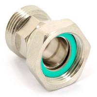 Соединение НР-ВР с накидной гайкой плоской прокладкой никелированное, Uni-Fitt 622N4000