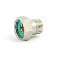 Соединение редукционное НР-ВР с накидной гайкой плоской прокладкой никелированное, Uni-Fitt 624N2300