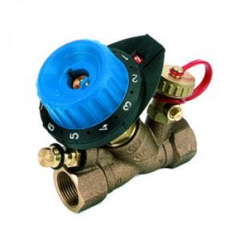 Балансировочный клапан р/р 750R с дренажем и с ниппелем, Comap, Ду15 7504041