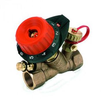 Балансировочный клапан р/р 750 с дренажем и с ниппелем, Comap, Ду25 750408