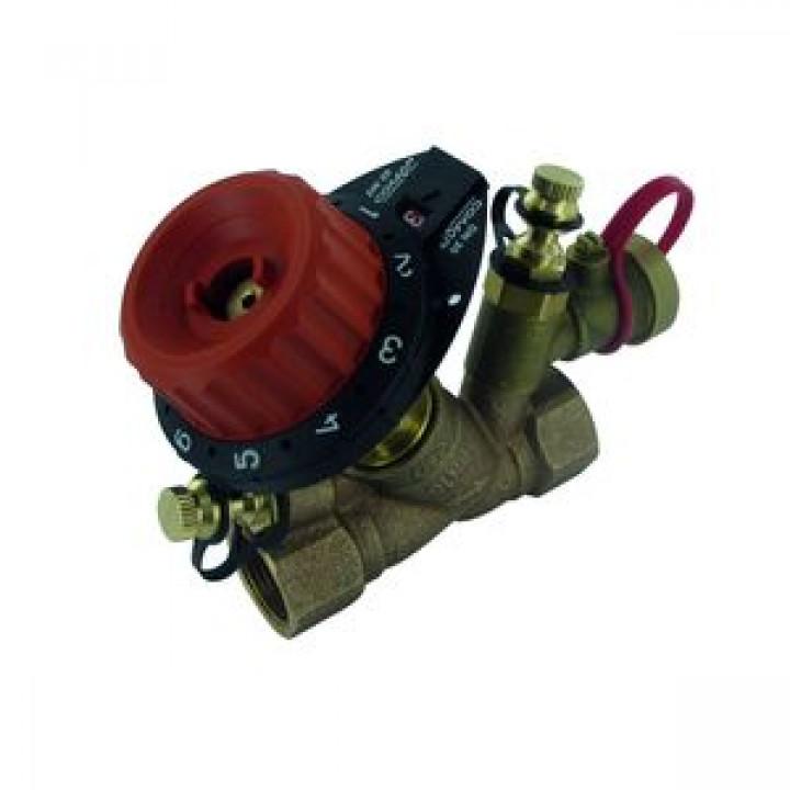 Балансировочный клапан р/р 750PV с дренажем и с 2 ниппелями, Comap, Ду25 754408