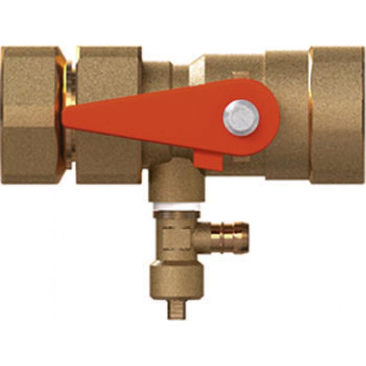 Быстроразъемное подключение - запорный кран со сливом, Reflex 7613000