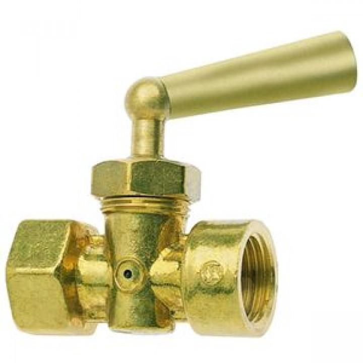 Кран для манометра 3х-ходовой латунь 158 Ду 15 Ру16 ВР G1/2 с рукояткой без фланца Icma90158AD05