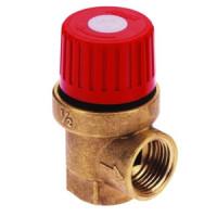 Клапан предохранительный пружинный латунь Ду15х15 ВР/ВР G1/2хG1/2 Рср=1.5бар 110С Icma . 91.241.ADAC