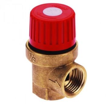 Клапан предохранительный латунь 241 Ду15х15 Ру10 ВР/ВР G1/2хG1/2 Рср=3бар Рн=1.5...10бар Icma91241ADAF